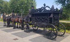 rouwkoets zwart met Friese paarden